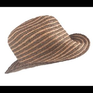 Broner straw woven fedora hat mens tan brown cap